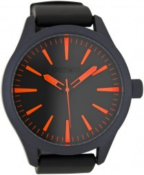 Oozoo XXL Herrenuhr C6724 schwarz-fluo orange