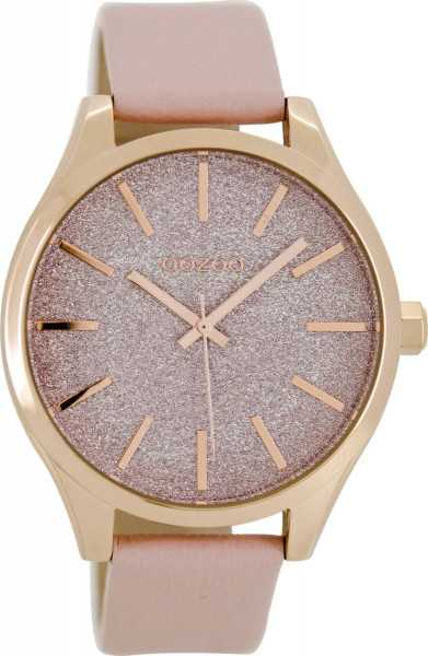 Oozoo Damenuhr C8621 - rose/puderrosa - Lederband - 42 mm