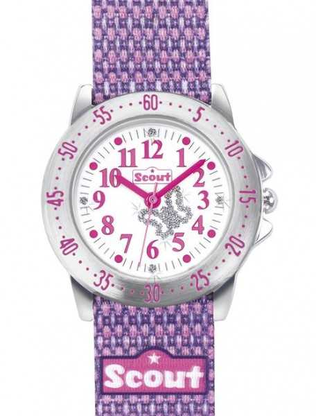Scout Action Girls Mädchenuhr 378006 - Textilband - 30 mm