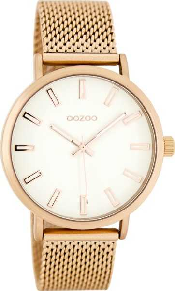 Oozoo Damenuhr C7953 - rose/weiss - 38 mm - Meshband
