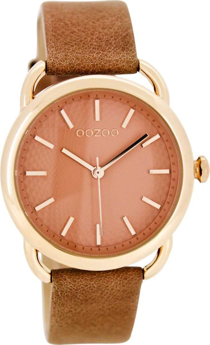 Oozoo Damenuhr C8718 - altrosa-rose - Lederband - 38 mm