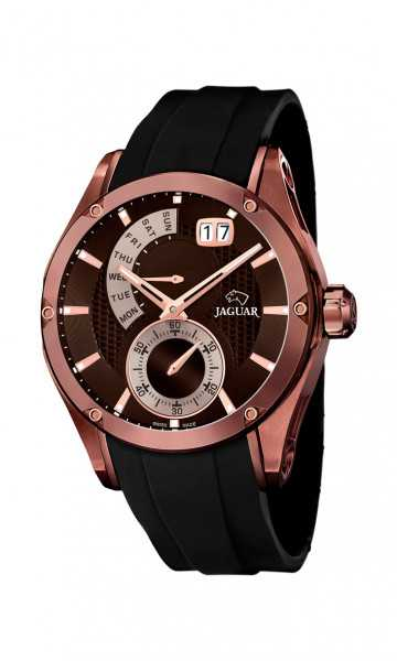 Jaguar Herren Multifunktionsuhr J680-1 - Spezial Edition - PU-Band - 45 mm