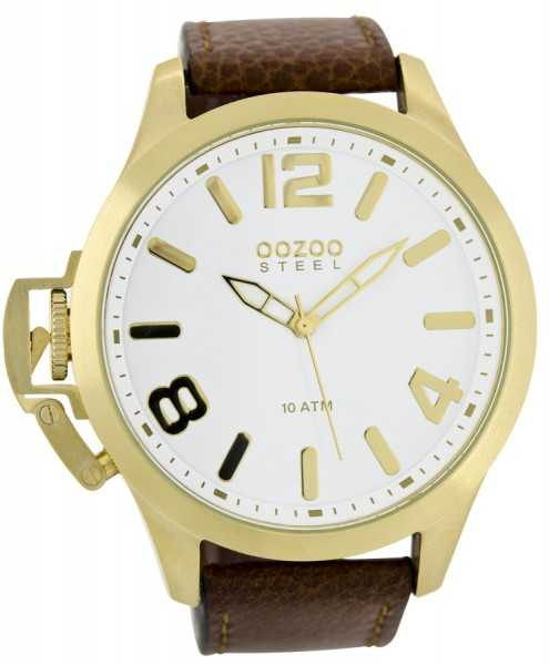 Oozoo Steel OS0335 XXL Herrenuhr gold