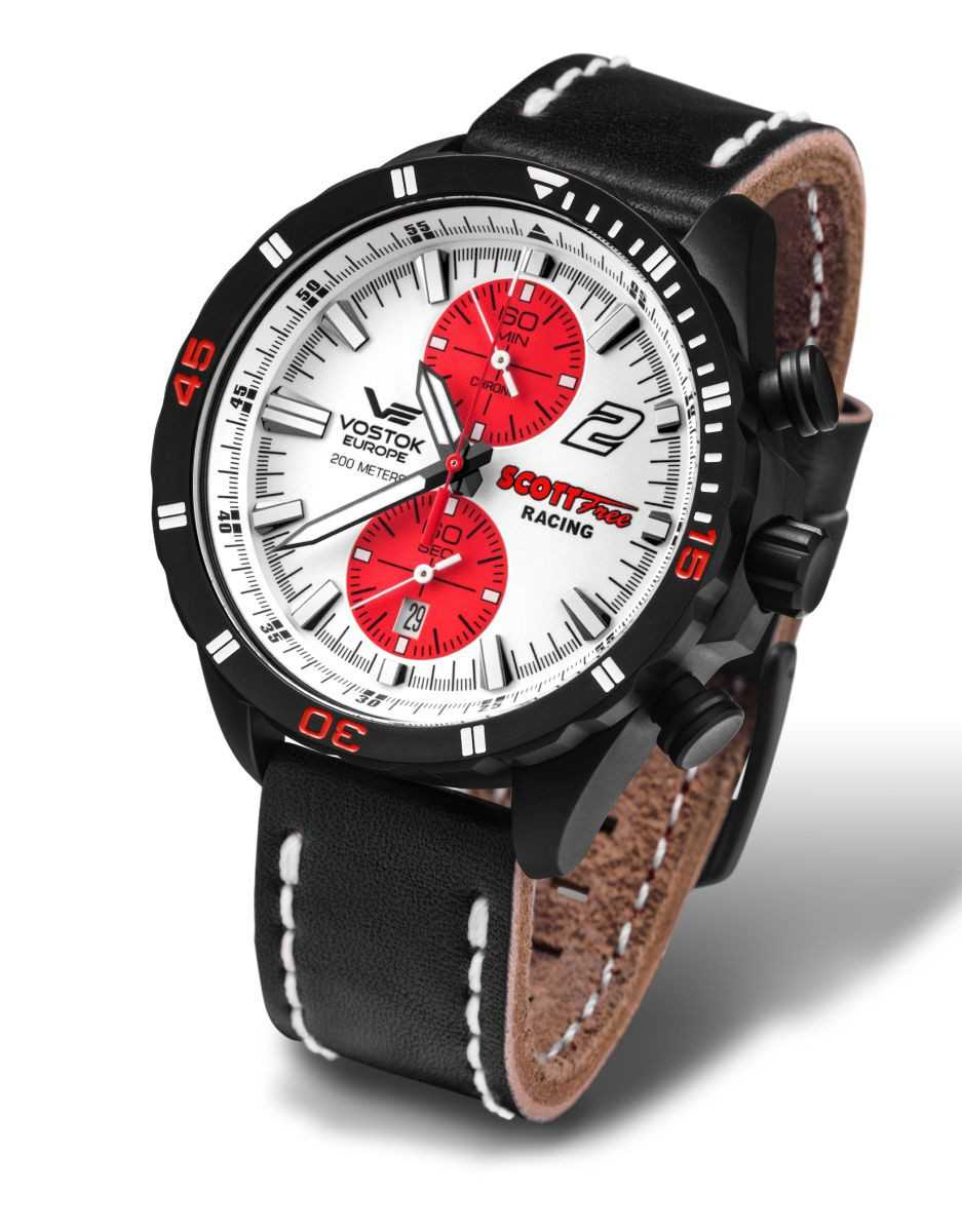 Vostok Europe Scott Free Racing Limited Edition Herren Chronograph 320C374 - Lederband - 47 mm