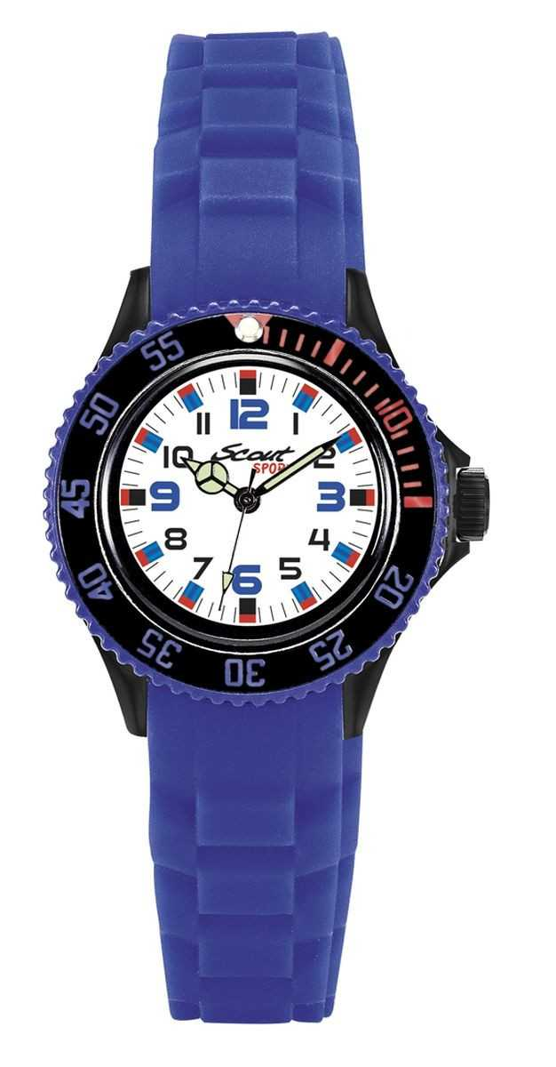 Scout The Scout Jungenuhr 303019 - Silikonband - blau - 36 mm