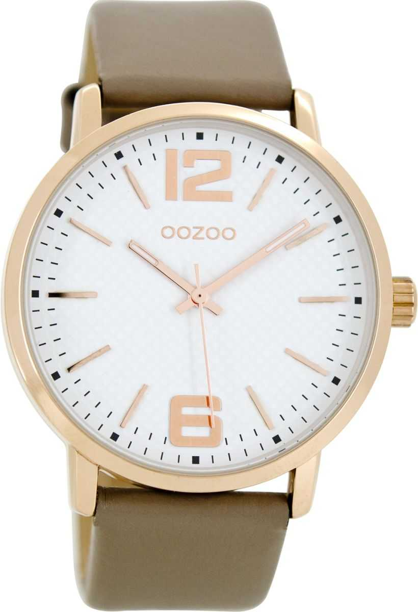 Rose 44 Weiss Lederband Oozoo C8506 Mm Taupe Uhr zUpVSMq