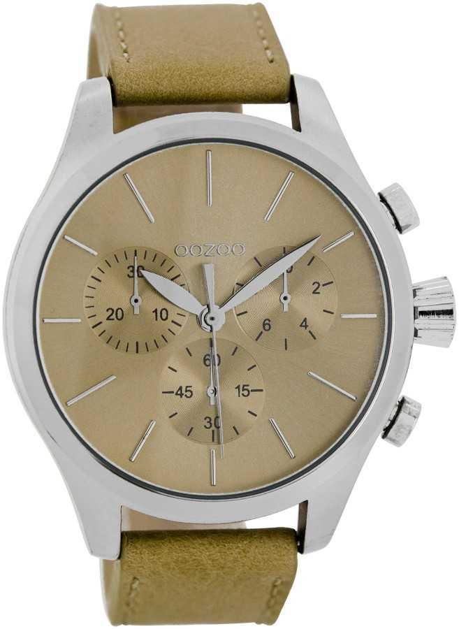 Oozoo Herrenuhr C7061 camel 45 mm - Lederband