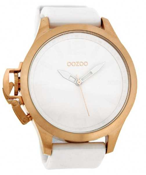 Oozoo Steel OS0271 XXL Herrenuhr weiss/rose - 51 mm
