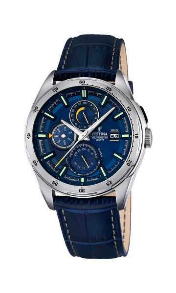 Festina Multifunktions Herrenuhr F16877-2 - Lederband - 42 mm