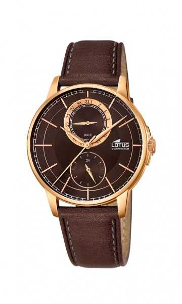 Lotus Klassik Herren Multifunktionsuhr 18324-3 - Lederband - 40 mm