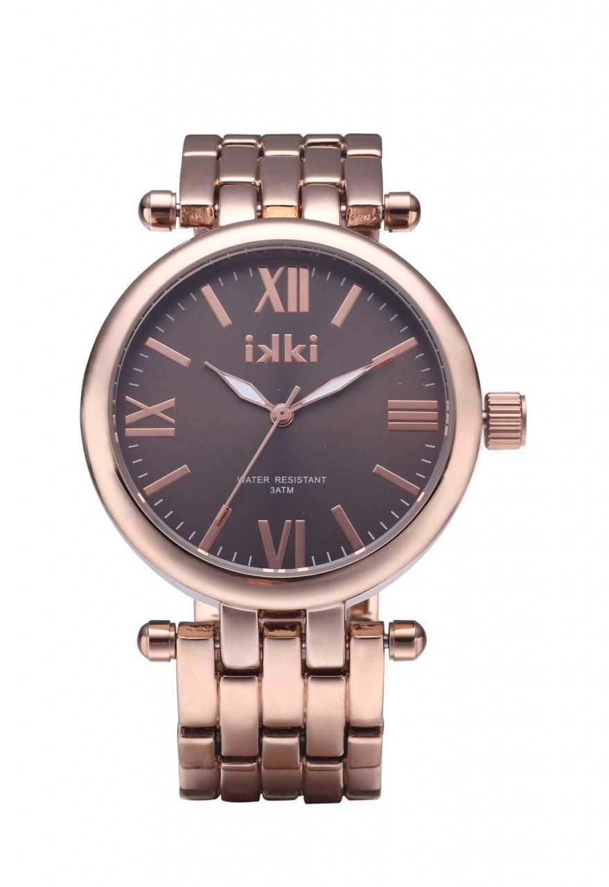 IKKI Cherry Damenuhr CY-05 - rose/taupe - 38 mm - Metallband