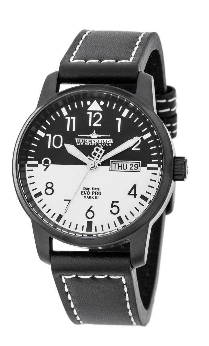 Thunderbirds EvoPro Flieger Herrenuhr TB1068-05 - Lederband - 40 mm