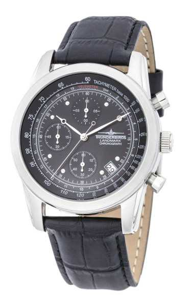 Thunderbirds Landmark Herren Chronograph TB1001-03 - Lederband - 40 mm