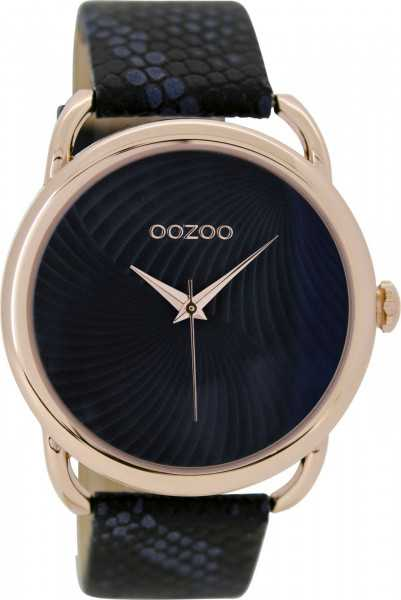 Oozoo Damenuhr C9164 - rose-graublau - Lederband - 42 mm
