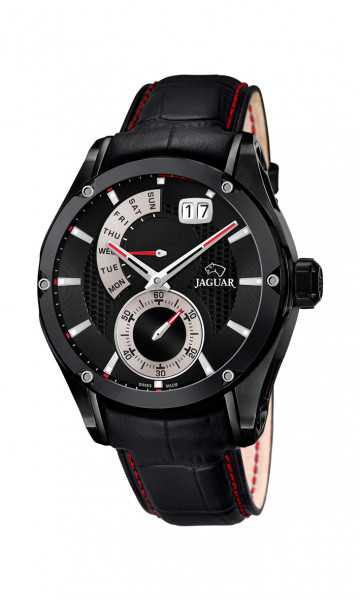 Jaguar Herren Multifunktionsuhr J681-B - Spezial Edition - Lederband - 45 mm