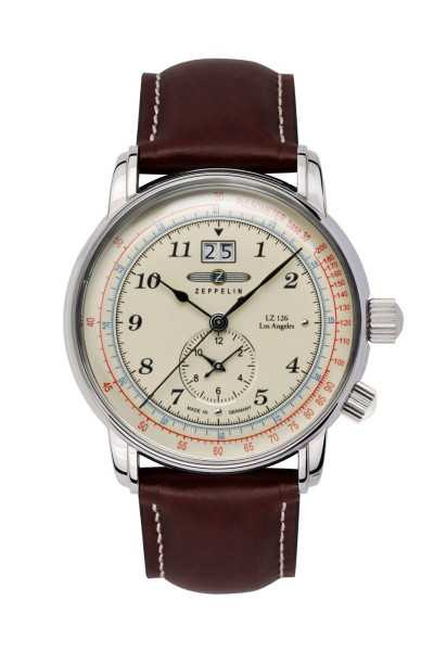 Zeppelin Los Angeles LZ126 Herrenuhr 8644-5 - Lederband - 42 mm