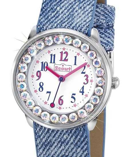Scout The Bling-Bling Collection Mädchenuhr 381008 - Textilband - 30 mm