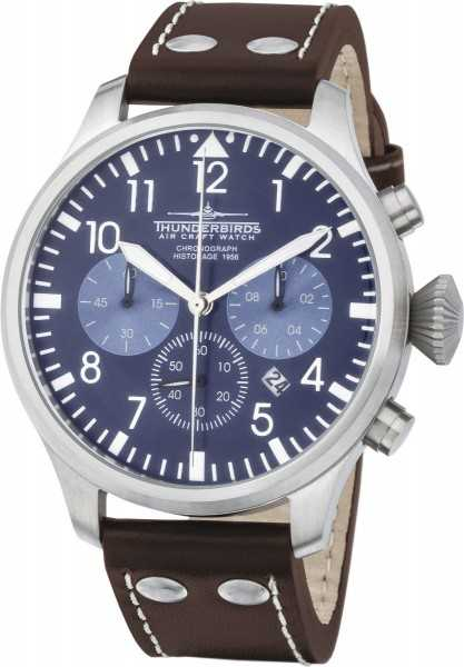 Thunderbirds Flieger Herren Chronograph TB1076-02 - Lederband - 47 mm