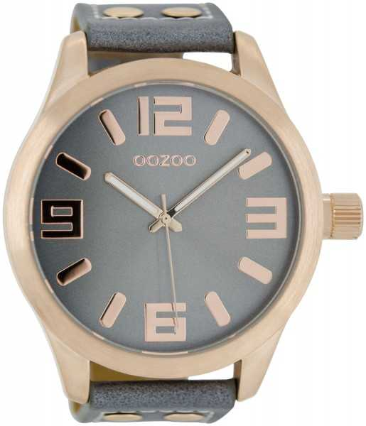 Oozoo Basic XXL Herrenuhr C1104 aquagrau-rose