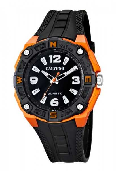 Calypso K5634/2 Herrenuhr schwarz/orange