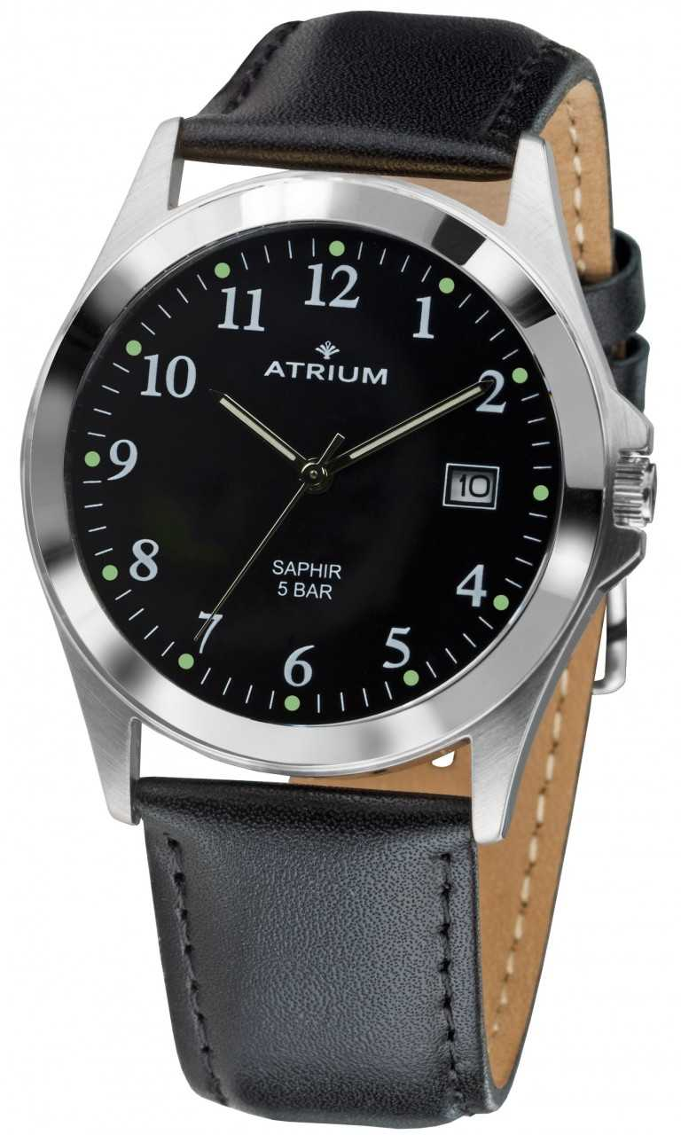 Atrium Herrenuhr A18-11 - Lederband - 39 mm