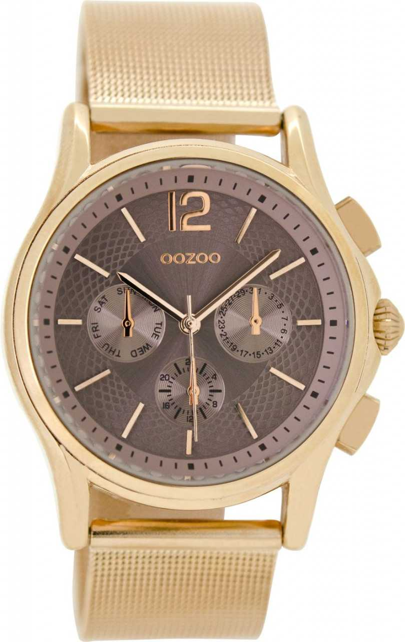 Oozoo Damenuhr C9106 - rose - Milanaiseband - 38 mm