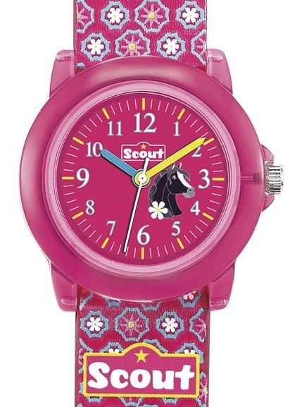 Scout Crystal Mädchenuhr 305012 - PU-Band - 30 mm