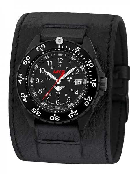 KHS Enforcer Black Steel Einsatzuhr KHS.ENFBS.LK - Lederband - 46 mm
