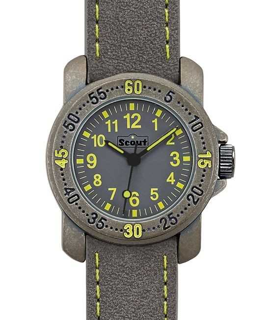 Scout Action Boys Jungenuhr 376032 - PU-Armband - 30 mm