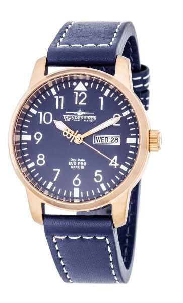 Thunderbirds EvoPro Flieger Herrenuhr TB1068-08 - Lederband - 40 mm