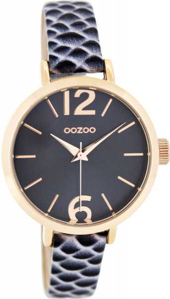 Oozoo Damenuhr C8700 - rose-blau - Lederband - 36 mm