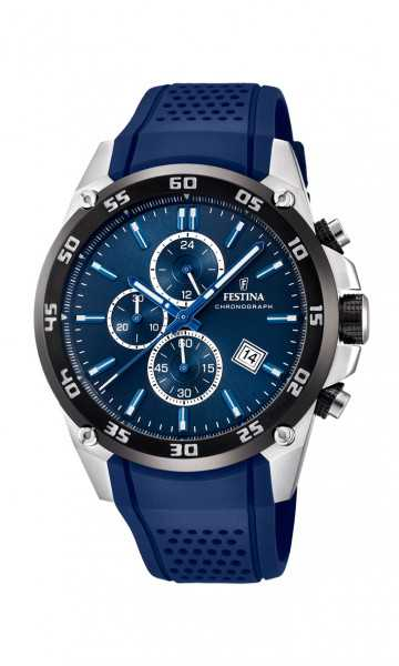 Festina The Originals Herren Chronograph F20330-2 - PU-Band - 47 mm