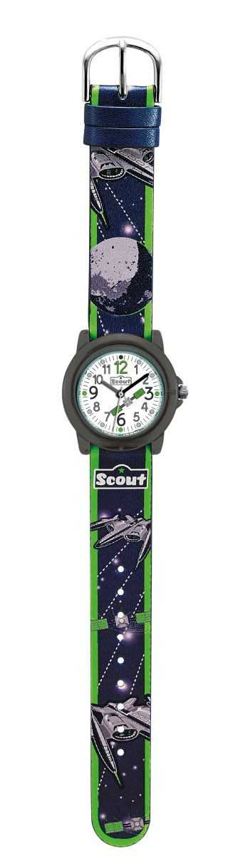 Scout Crystal Jungenuhr 305025 mit Space-Motiv - PU-Band - 30 mm