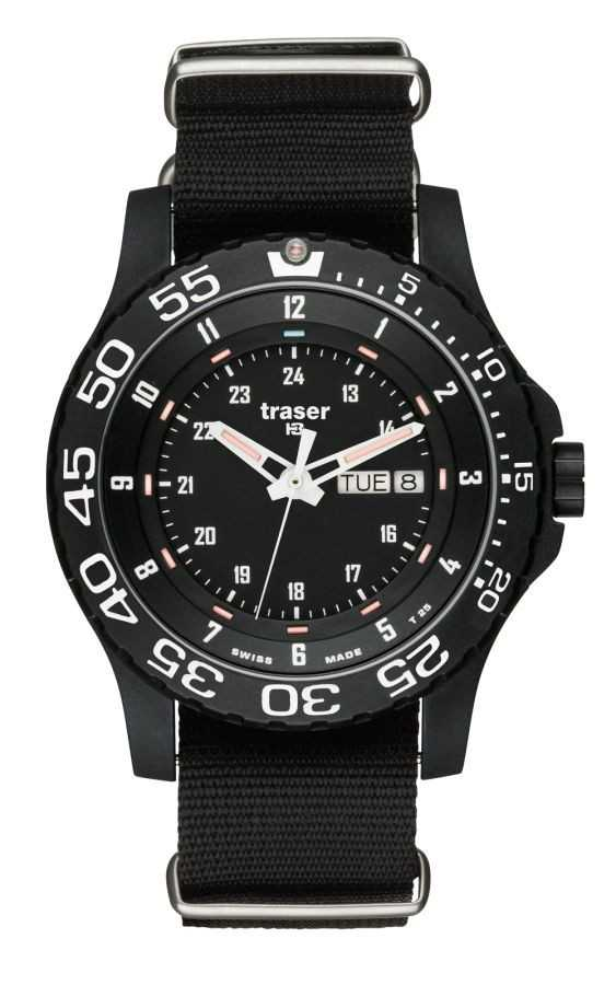 Traser H3 Elite Red Uhr Saphirglas 104637 - Natoband - 45 mm