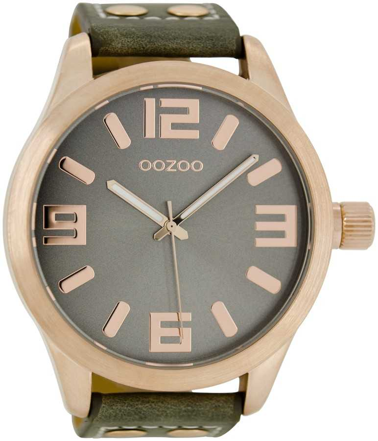Oozoo Basic XXL Herrenuhr C1103 grau/rose - 50 mm