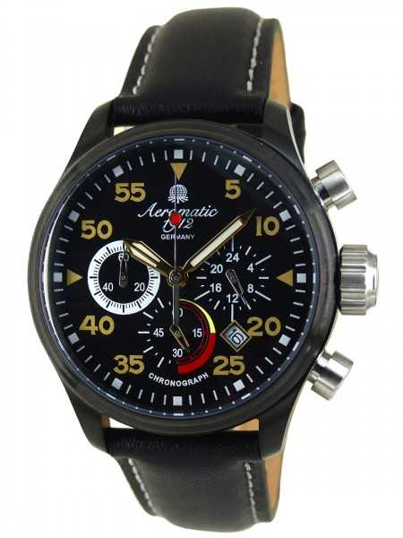 Aeromatic 1912 Herren Chronograph A1427 Lederband 40 mm