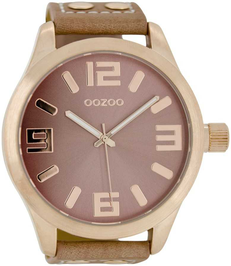 Oozoo Basic XXL Herrenuhr C1102 rosé/rosagrau 50 mm
