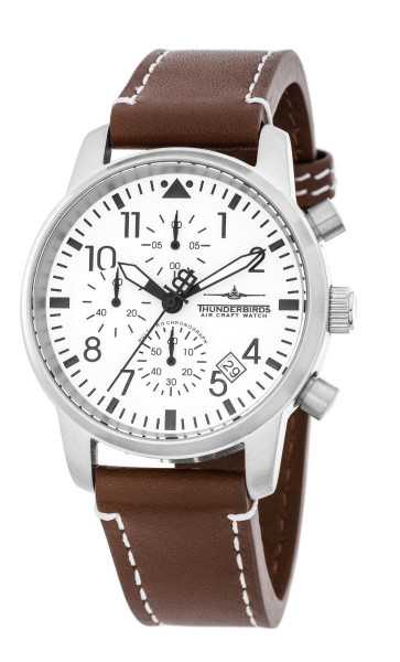 Thunderbirds Flieger MultiProChrono Herren Chronograph TB1067-06 - Lederband - 40 mm