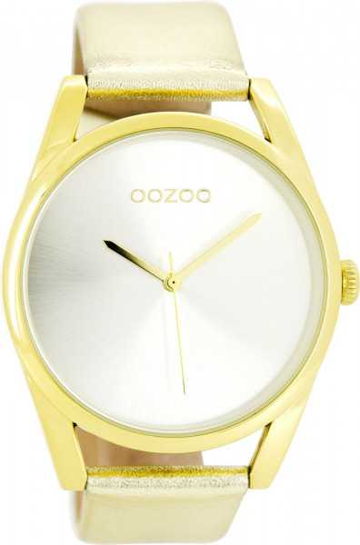 Oozoo Damenuhr C9178 - goldfarben - Lederband - 42 mm