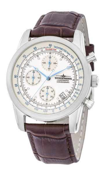 Thunderbirds Landmark Herren Chronograph TB1001-01 - Lederband - 40 mm