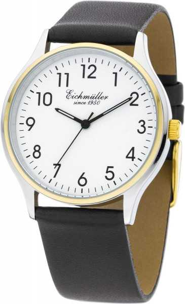 Eichmüller Herrenuhr 3050-04 - bicolor - Lederband - 38 mm