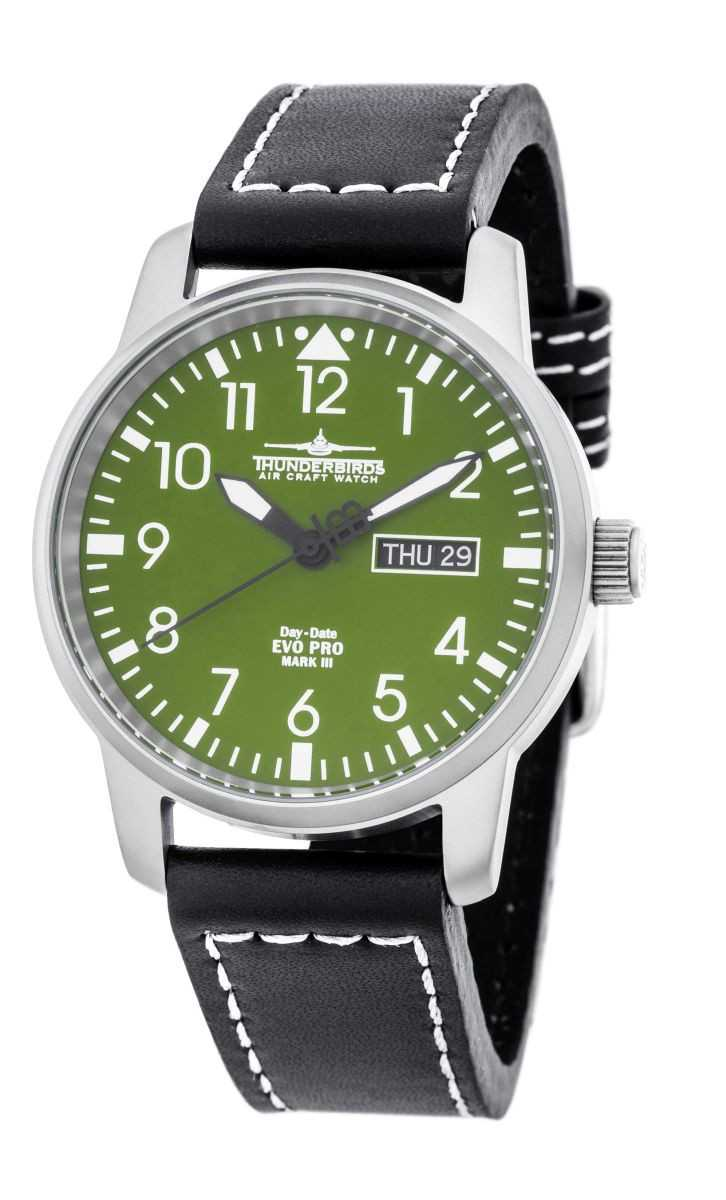 Thunderbirds EvoPro Flieger Herrenuhr TB1068-06 - Lederband - 40 mm