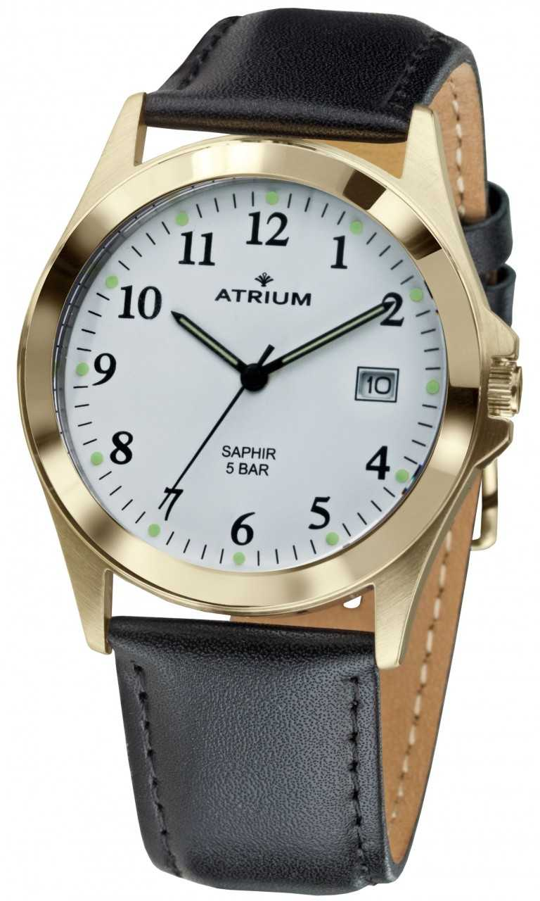 Atrium Herrenuhr A18-20 - Lederband - 39 mm