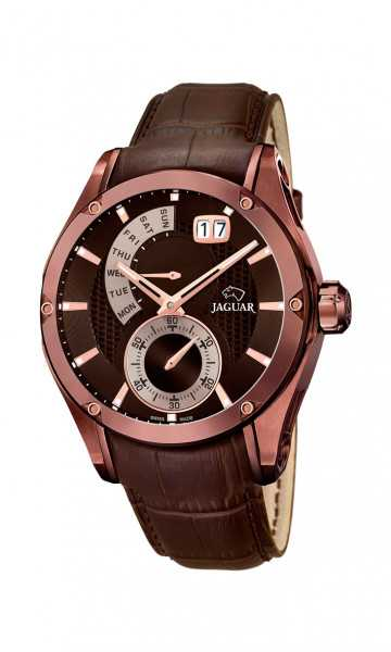 Jaguar Herren Multifunktionsuhr J680-A - Spezial Edition - Lederband - 45 mm