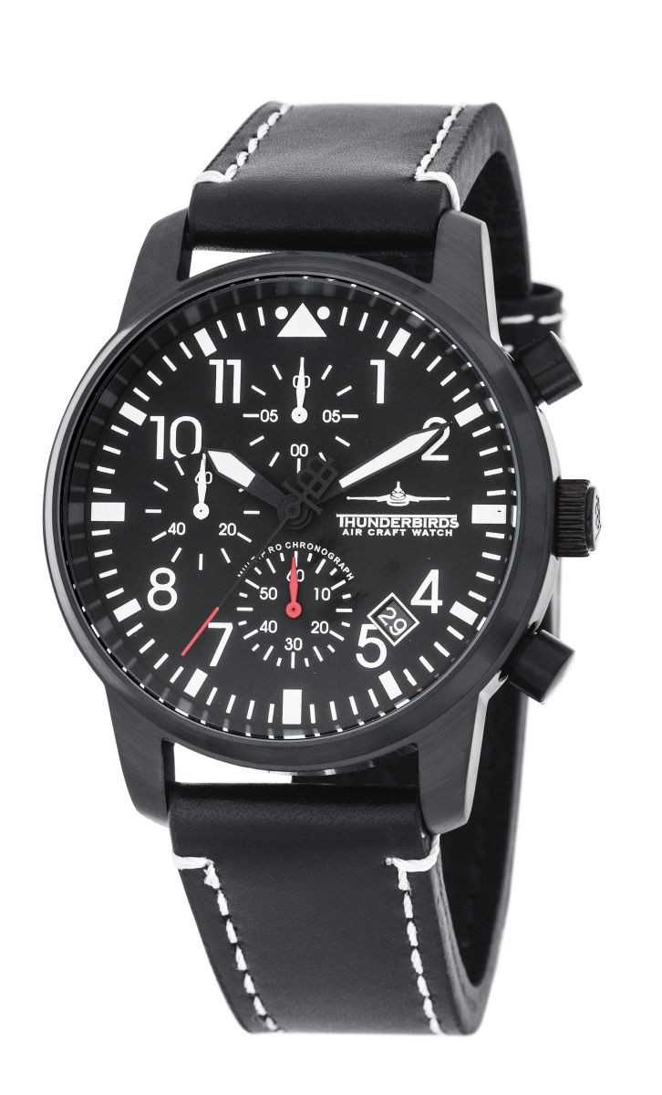 Thunderbirds Flieger MultiProChrono Chronograph TB1067-03 - Lederband - 40 mm