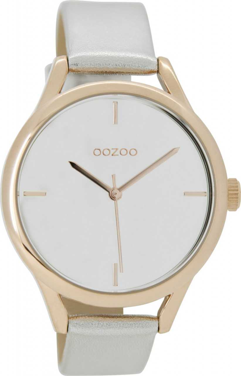 Oozoo Damenuhr C9140 - rose-silberfarben - Lederband - 40 mm