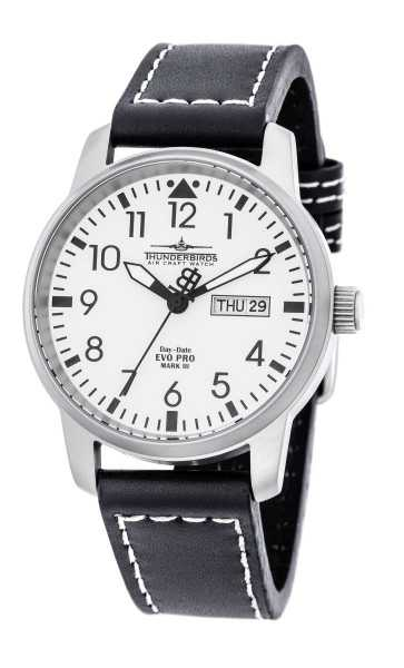 Thunderbirds EvoPro Flieger Herrenuhr TB1068-01 - Lederband - 40 mm