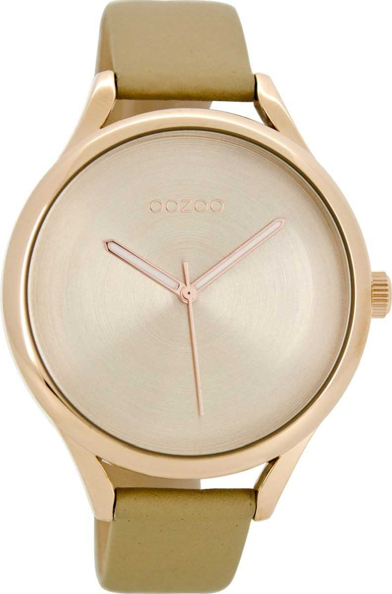 Oozoo Damenuhr C8630 - rose-sand - Lederband - 42 mm