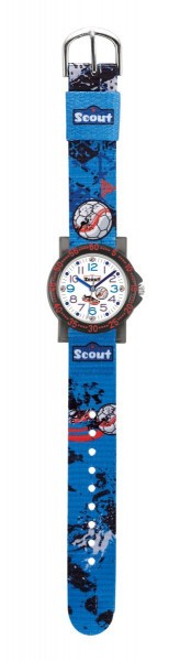 Scout The IT-Collection Jungenuhr 375009 Fussball - Textilband - 30 mm
