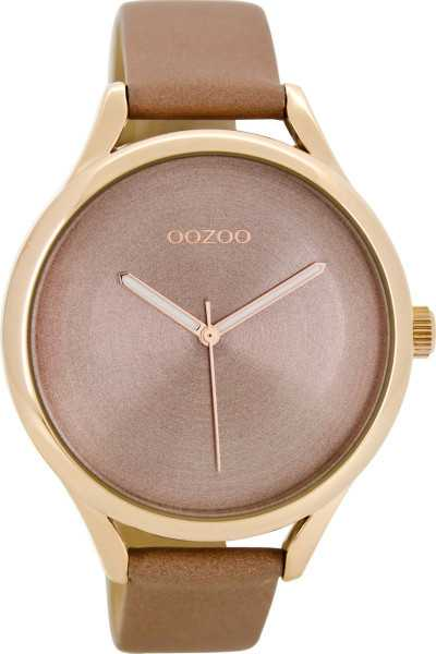 Oozoo Damenuhr C8632 - altrosa-rose - Lederband - 42 mm